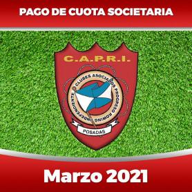 CAPRI - Cuota 03/2021 - Marzo 2021