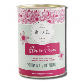 Yerba Mate Mate & Co. Lata 220Gr Flower Power