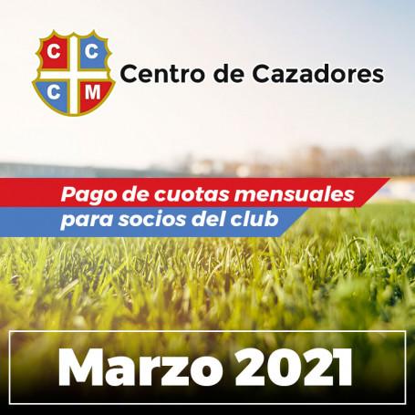 Centro Cazadores - Cuota 03/2021 - Marzo 2021