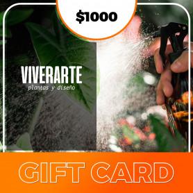 Gift card  Viverarte - Plantas y diseños $1000