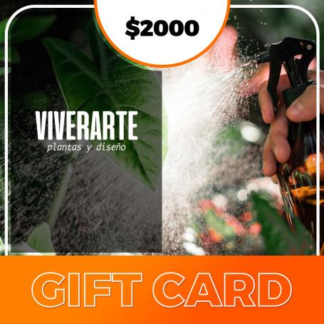 Gift card Viverarte - Plantas y diseños $2000