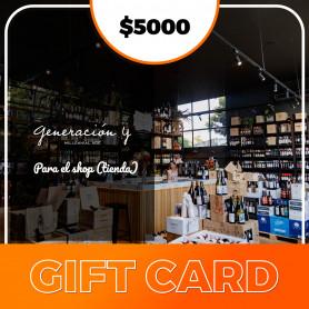 Gift card para el shop de Generación Y - $5000