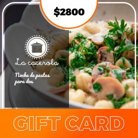 Gift card noche de pastas para dos personas - La Cacerola