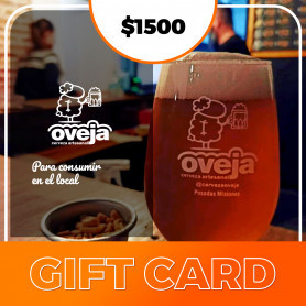 Gift card para Oveja Cerveza Artesanal - $1500