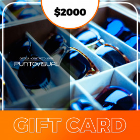 Gift card de Óptica Punto Visual - $2000