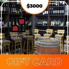 Gift card Vinoteca Vinomio $3000