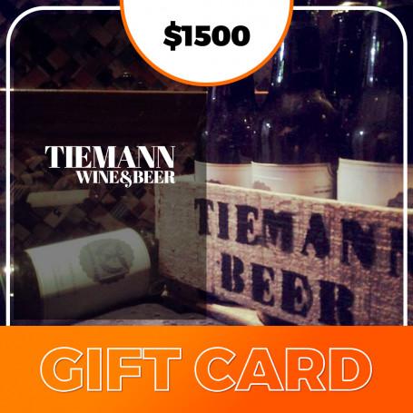 Gift card para Tiemann beer - $1500