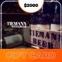 Gift Card para Tiemann beer - $2000