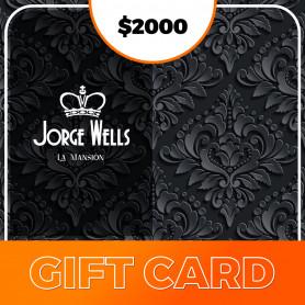 Gift Card para Jorge Wells  La Mansión - $2000