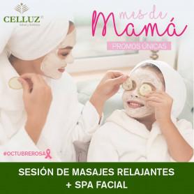 Gift card para el día de la madre - Masajes relajantes + spa facial - Celluz