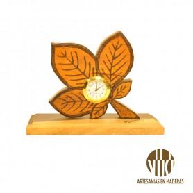 Reloj Artesanal- figura de flor silvestre