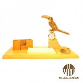 Reloj Artesanal- figura de pajaro silvestre