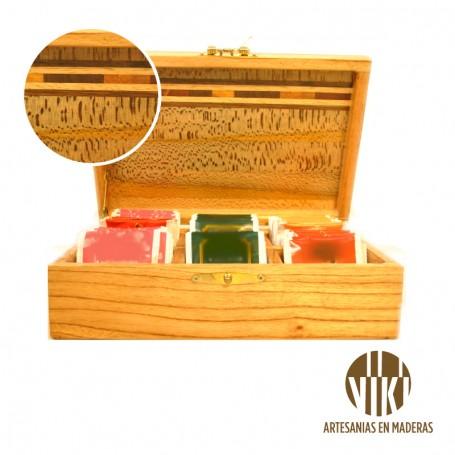 Caja de té x 4- Madera nativa