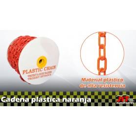 Cadena plástica naranja por metro