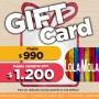 GIFT CARD LOLA MOLA paga $990 y compras por $1200