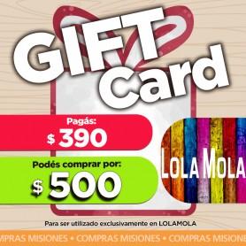 GIFT CARD LOLA MOLA- pagas $390 y compras por $500