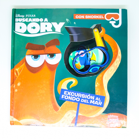 Libro Buscando a Dory con snorkel