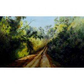 Obra de Arte Ana María Galarza - Selva rayada de caminos - Ernesto Engel