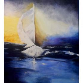 Obra de Arte María Beatriz Zufiría de Malarckzuk - Tempestad - Ernesto Engel