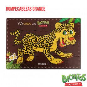 Rompecabezas de Yaguareté - 20 piezas - Bichitos de Misiones