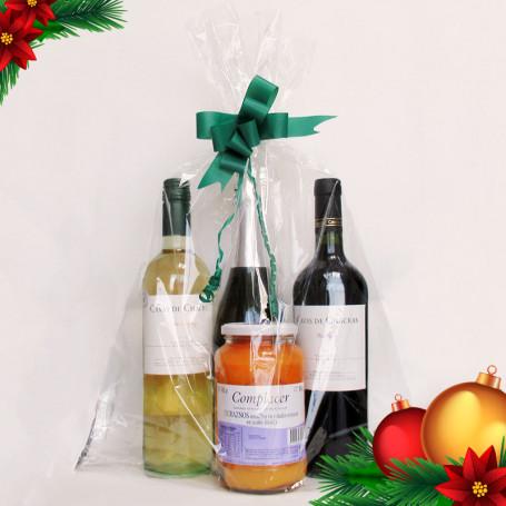 Regalos Empresariales Fin de Año - Combo 3: Dos vinos+Un Espumante+Un Dulce