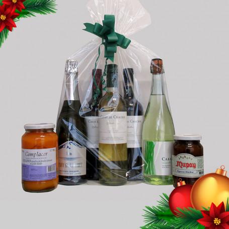 Regalos Empresariales Fin de Año - Combo 1: Tres Vinos+Dos Espumantes+Dos Dulces