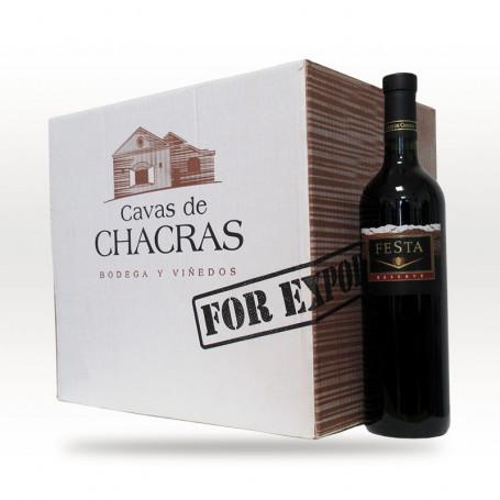 Caja de 6 botellas de vinos -  Festa Malbec Roble