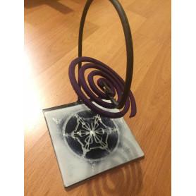 Porta espiral diseñado en vitrofusión - Modelo nº5