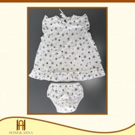 Conjunto Vestido nena - Algodón Peruano