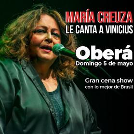 María Creuza le canta a Vinicius en Oberá - Domingo 5 de mayo