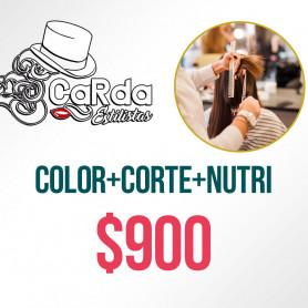 Voucher para Color + Corte + Nutrición - Carda Estilistas