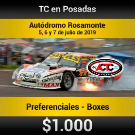 Turismo Carretera  Autódromo Rosamonte- Entradas para Boxes