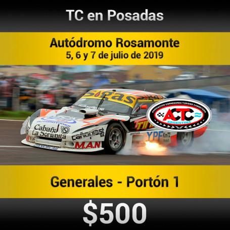 Turismo Carretera  Autódromo Rosamonte- Entradas para Portón 1