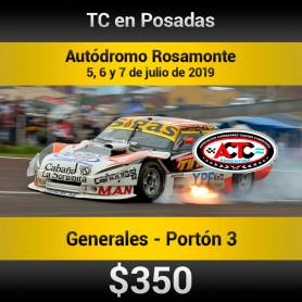 Turismo Carretera  Autódromo Rosamonte - Entradas para Portón 3