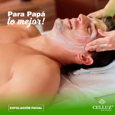Exfoliación facial - Voucher día del padre en Celluz -