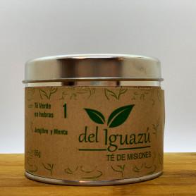 Té verde en hembras saborizado  jengibre y menta - Del Iguazú Infusiones