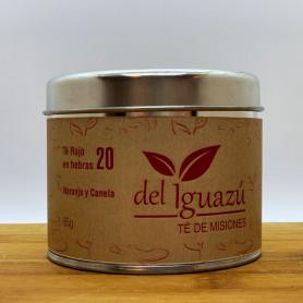 Té verde en hebras saborizado  naranja y canela - Del Iguazú Infusiones