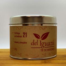 Té rojo en hebras saborizado  ananá y jengibre- Del Iguazú Infusiones