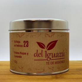 Té rojo en hebras saborizado  frutos rojos y lavanda- Del Iguazú Infusiones