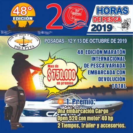 Inscripción para Maratón Internacional de Pesca Variada Embarcada 2019 - Club Pirá Pytá