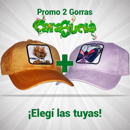 Promo - Dos gorras de la película Cara Sucia a $1.000