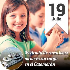 Merienda de Vacaciones en el catamarán - Viernes 19 de julio