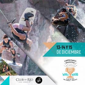 Entradas para el Campeonato de Wakeboard - Club de Río, San Ignacio, Misiones