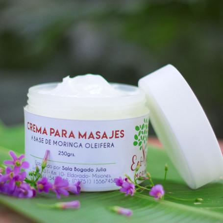 Crema para masajes a base de Moringa Oleifera