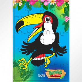 Rompecabezas de 20 piezas Tucán - Bichitos de Misiones