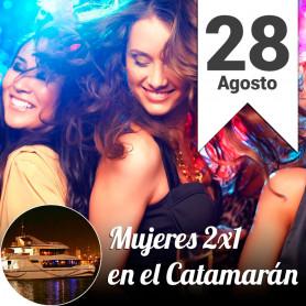 Mujeres 2x1 en el catamarán - Rodizio de pizzas - Miércoles 28 de agosto