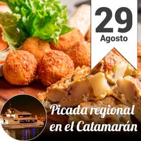Noche de Picada Regional en el catamarán- Promo 2X1- Jueves 29 de agosto