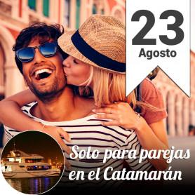 Cena solo para Parejas en el catamarán - Viernes 23 agosto