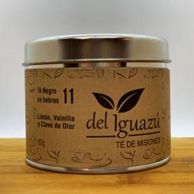 Té negro en hebras saborizado limón, vainilla y clavo de olor - Del Iguazú Infusiones