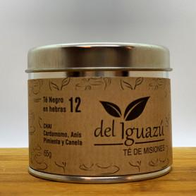 Té negro en hebras saborizado cardamomo, pimienta, anís y canela - Del Iguazú Infusiones